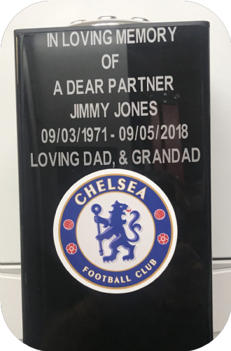 Chelsea  F. C. Square grave flower pot.